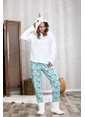 Lingabooms Wellsoft Kapüşonlu Unicorn Kadın 2'li Pijama Takım  Pembe